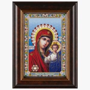 Казанская икона Божией Матери в киоте