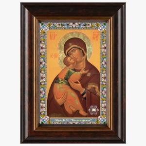 Владимирская икона Божией Матери в киоте
