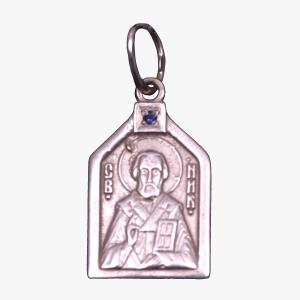 святитель Николай Чудотворец. Медальон серебряный