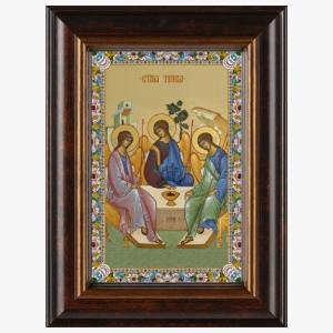 Святая Троица Ветхозаветная, киот, икона