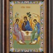 Святая Троица Ветхозаветная, киот, рамка