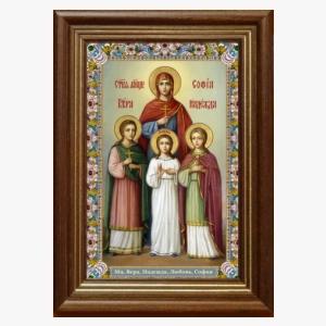 Образ святых мучениц Веры Надежды Любви и Софии