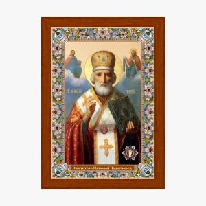 Святитель Николай с лепестком, икона