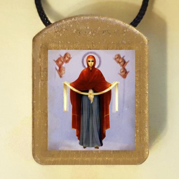 Икона Божией Матери - Покров. Ладанка
